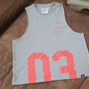 Adidas cropped muscle tee